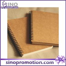 Caderno barato de venda quente de Kraft da escola da capa dura