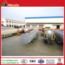 Nuevo remolque de camión tanque de acero inoxidable para agua / transporte de leche
