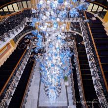 Proyecto de lujo de gran centro comercial personalizado Lámpara de araña LED