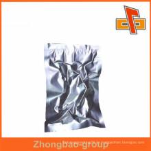 Aluminium-Folie Silber kleine Vakuum-Tasche Großhandel für Lebensmittel Verpackung