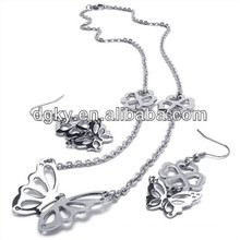 Schmetterlings-Art- und Weiseschmucksache-Sätze Ohrringe und Halskette