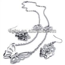 Bijoux à la mode pour papillon Ensembles Boucles d'oreilles et Collier