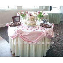 precioso mantel para bodas y banquetes, paño de tabla del poliester 100%