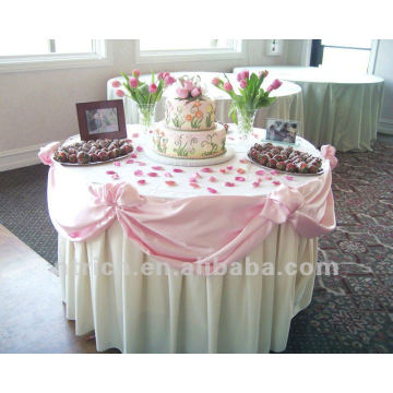 charming table cloth for weddings and banquet,100%polyester table cloth