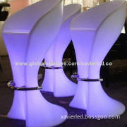 55 x 51 x 102cm Bar Stool LED Furniture, IR Controller, Waterproof, IP68, Rechargeable5W, 110-240V