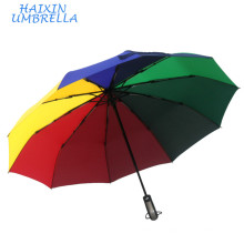 Corporate Gift Ideas Branding Logo Maximum Protection Travel Souvenir Iridescent Wind Resistant Rain Umbrella Automatic