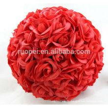 Leidenschaftliche rote künstliche Rosenbälle für Hochzeit