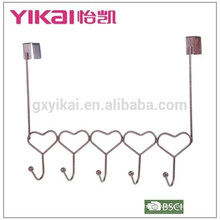 Хромированный дверной крюк из хромированной стали с 5 держателями