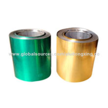 Color printed aluminum foil container, free from oil and dent