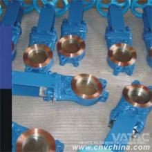 Válvula de compuerta de cuchilla de galletas Gg25 y Ggg40 de hierro fundido