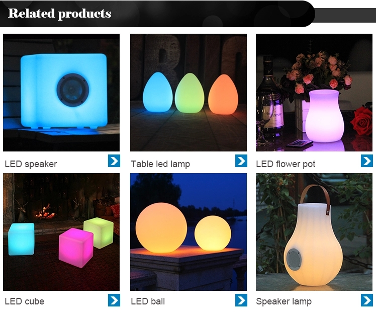 Modern Plastic Design Led Flower Pot