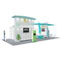 Detian Offer 20x30ft excellent design aluminum exhibition booth for pet food