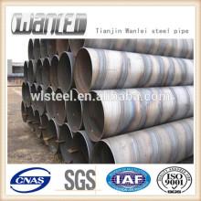 Tuyau d'acier en spirale de haute qualité prix par kg