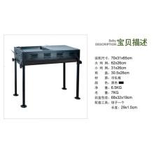 Gril de barbecue de conception de tiroir de charbon de bois d'acier inoxydable de pique-nique extérieur avec des jambes pliables
