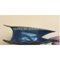 Factory price stand up pouch flat bottom aluminium foil lined kraft paper bag with window