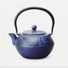 El nuevo color al por mayor del estilo se puede personalizar la olla del té del molde de hierro con el infuser Amarillo
