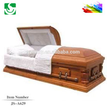 JS-A629 luxury paulownia wooden casket supplier