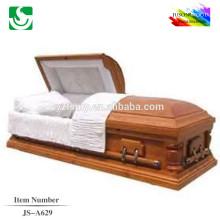 JS-A629 fornecedor do luxo do paulownia caixão de madeira