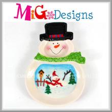 Mode neue Design Weihnachten Snow Design Keramikschale