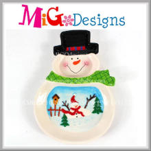 Cuenco de cerámica del diseño de la nieve de la Navidad del nuevo diseño de la moda