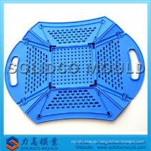Inyección y molde plástico plegable de la cesta de fruta