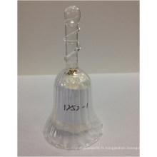 Vente chaude de cloche de verre décoratif en cristal pour le dîner décoratif