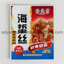 Bolsa diaria pequeña de empaquetado plano para aperitivos, refrigerios de carne al vacío, aperitivos de marisco
