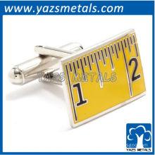 Measuring tape cufflinks, customize high quality metal cufflink crafts