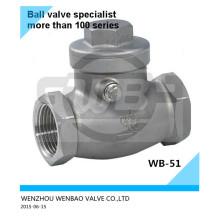 Válvula de retención abatible 316L BSPT Dn25 Pn16 Precio