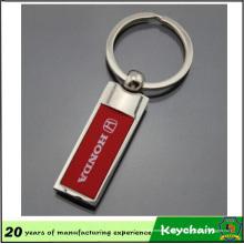 Porte-clés en métal blanc bon marché de vente chaude