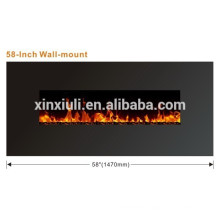 58 inch wall mounted led electric cheap fireplace