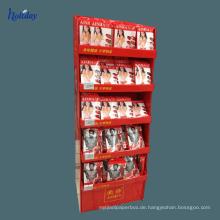 6 Jahre Fabrik Karton Countertop Kosmetik Lippenstift Halter Stand, Platz Loch Zähler Lippenstift Stand