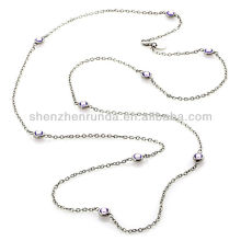 "Wholesale Crystal Station Cable-Link 36"" Services Necklaces Jewelry Manufacturer Supply"