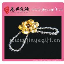 Shangdian artisanal strass à la main perles en gros anneau de cristal