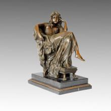 Statuette classique Statue Thinker Bronze Sculpture, Carpeaus TPE-010