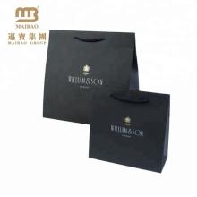 Fábrica barato de alta qualidade luxo preto fosco personalizado impresso varejo papel presente saco para compras