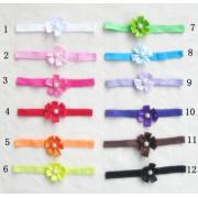 Ribbon Applique,Chiffon Pearl Fabric Flower Headband