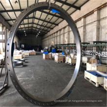 Flange de alto diâmetro em aço estrutural