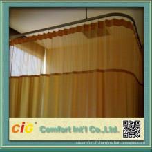 280cm plaine hôpital Cutain tissu fabriqué en Chine