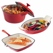 High Quality hot pot cast iron cookware casserole set