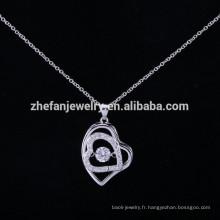 Gros Alibaba ZheFan nouveaux modèles 925 collier pendentif en argent sterling dansant