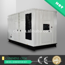 Con el generador silencioso 400kw del motor de Cummins, 500kva estándar 20'GP generador contener