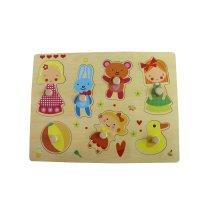 Wooden Girl Playing Puzzle Spielzeug für Kinder und Kinder