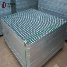 Caillebotis en acier soudé par presse galvanisé à chaud de 2 mm