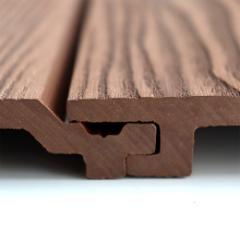 Wholesale Weatherproof PVC Outdoor Wood Plastic Composite Exterior 3D Wall Cladding
