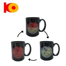Round shape sublimation color changing coffee mug wholesale