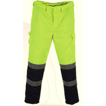 Men's safety work trousers with reflective tape