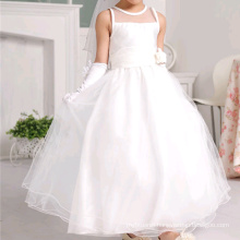 White Children Wedding Frocks Dress Design Flower Girl Floor Length Children Wedding Dresses