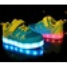 Unisex Enfant USB Chargeur de lumière Clignotants Sneakers Chaussures LED