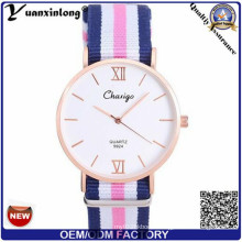 Yxl-522 Japan Movement Stainless Steel Classical Nato Band Couple Watch, Slim Nato Nylon Strap Watches